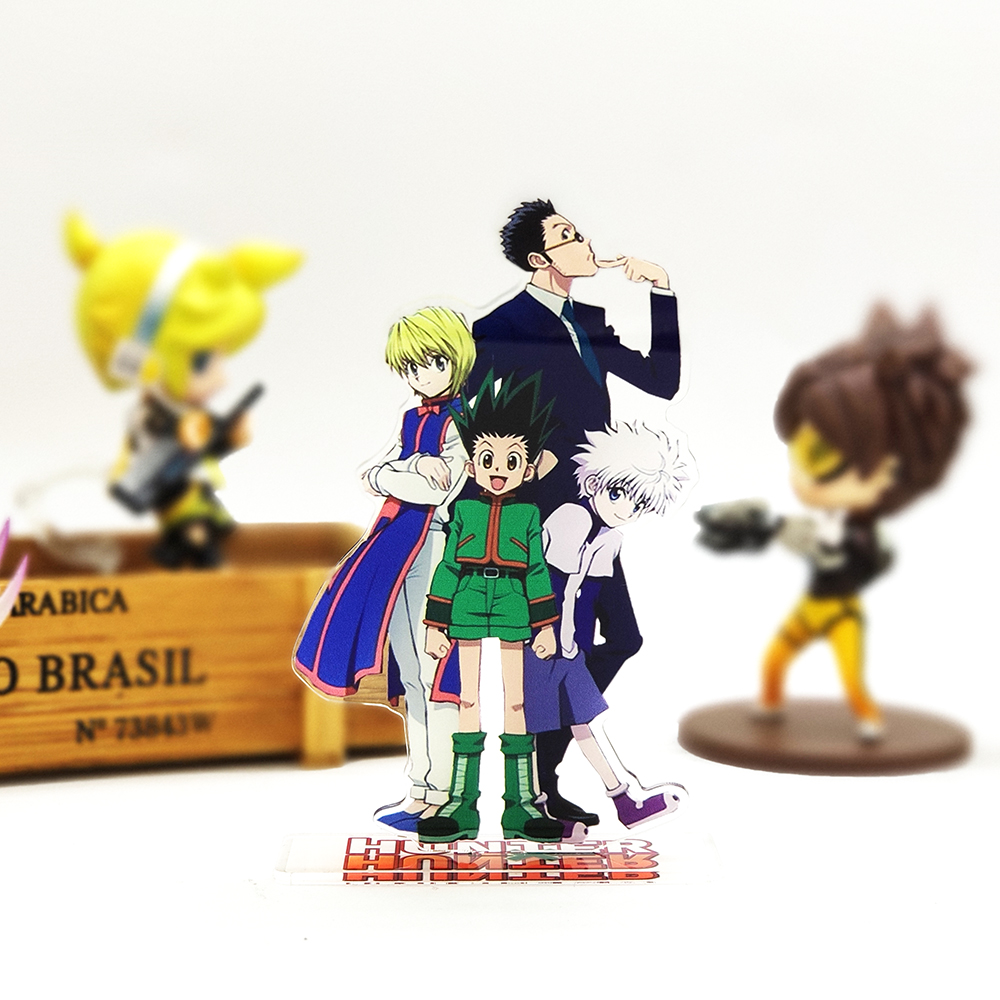 HUNTER × HUNTER Gon Killua Kurapika Leorio Acrylic Stand Figure Model Double-side Plate Holder Cake Topper Anime Cool