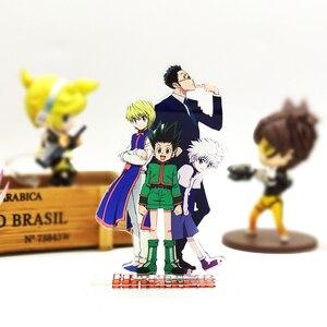 Image 1 - HUNTER × HUNTER Gon Killua Kurapika Leorio acrylic stand figure model double side plate holder cake topper anime cool