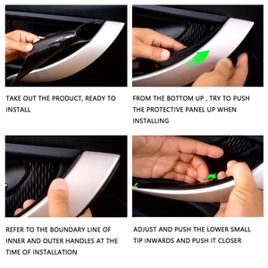 Image 4 - For BMW New 3 4 Series F30 F35 2012 2013 2014 2015 2016 2pcs/set Car Door Handle Panel Pull Armrest Quick Install Cover