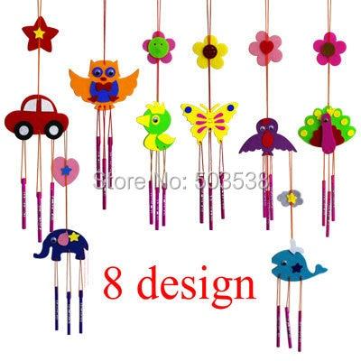 Buy 50pcs lot diy fabric aeolian bells for Craft kits for kids in bulk