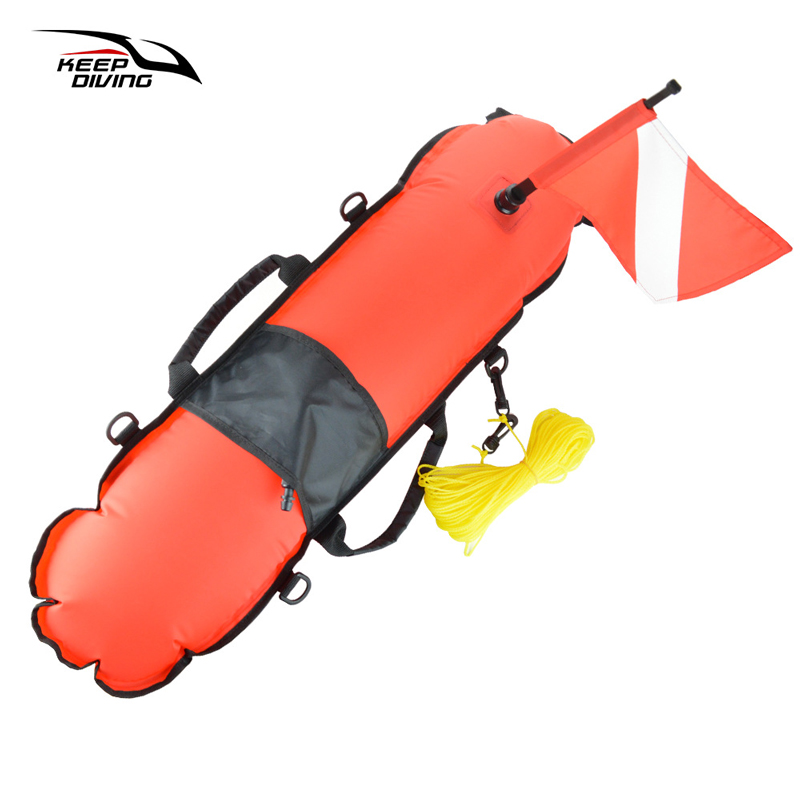 Waterproof Scuba Diving Buoy Float Dive Kayak Boat Signal Flag Weight Belt Safety Gear Equipment for