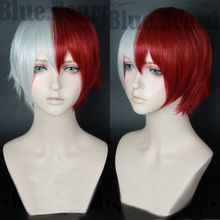 My Boku no Hero Academia Shoto Todoroki Shouto Short Sliver White And Red Heat Resistant Cosplay Costume Wig