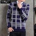 blusas  cashmere Tic - tac - toe hsingling school head men sweater long - sleeved warm sweater new winter coat classical joker