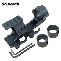 "Quick Release Scope Mount 1""/30mm Dual Ring Tactical Cantilever Heavy Duty Rail 20mm Picatinny Rail Extended for Air Gun Hunting"