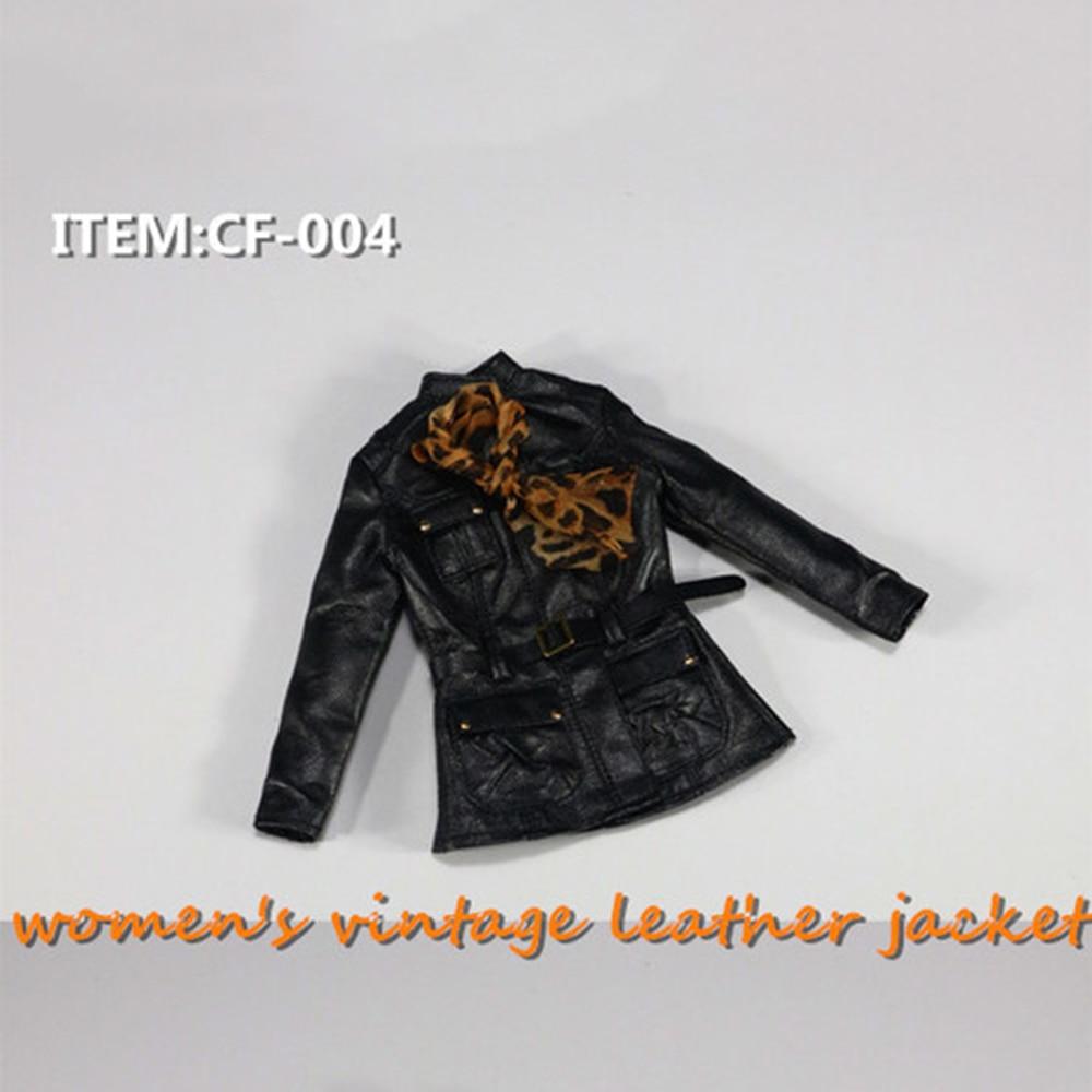 "1//6 Vintage Leather Jacket CF-004 Clothes Figure Model F 12/"" Female Doll"
