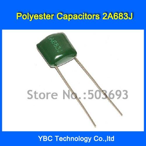 50Pcs CBB Capacitor 100V 683J 0.068UF 68NF 683J100V Pitch 5mm P5