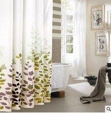 180 * 180 cm 1 Pcs vert feuille d'érable de douche rideaux conception résistance à l'eau tissu Polyester imperméable accueil salle de bains rideaux