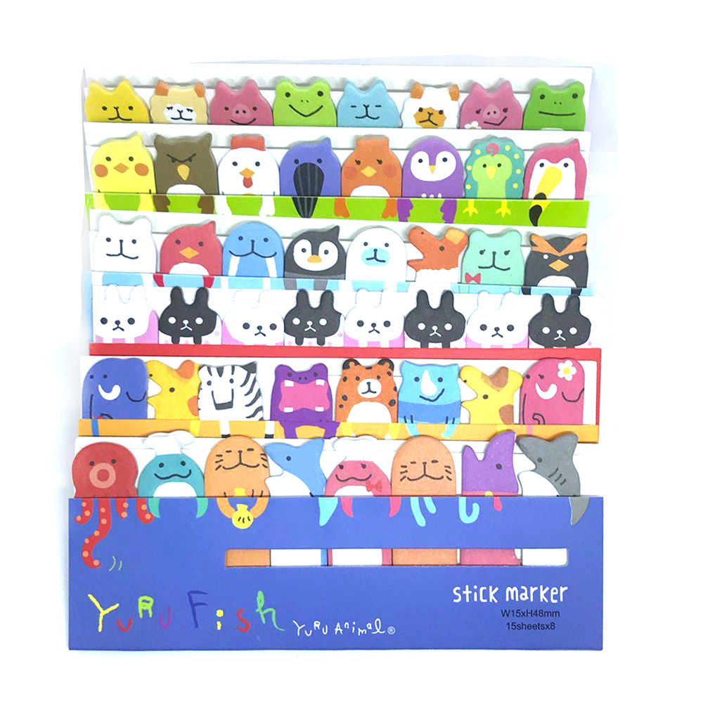 Mini Cute Kawaii Cartoon Animals Cat Panda Memo Pad Sticky Notes Memo Notebook Stationery Note Paper Stickers School Supplies Office & School Supplies Notebooks & Writing Pads
