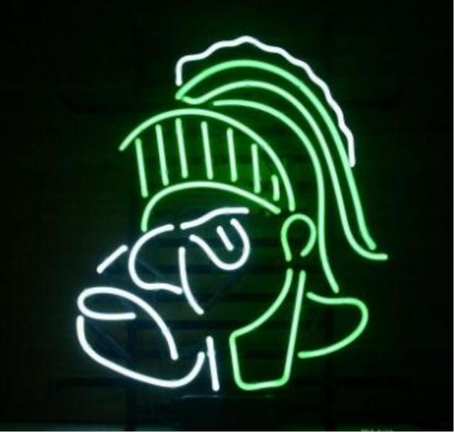 Custom MICHIGAN STATE SPARTANS Glass Neon Light Sign Beer Bar