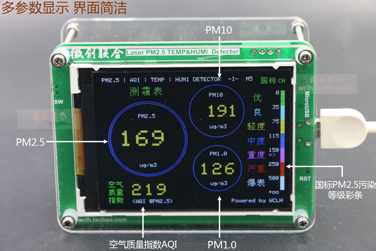 Image 5 - Free M5S With Formaldehyde CO2 TVOC Temperature and Humidity Data Export PM2.5 CO2 TVOC TEMP&HUMI Detector Haze PM2.5 Sensors-in Sensors from Electronic Components & Supplies