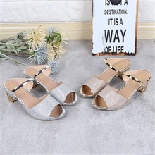 Sexy Women Casual High Heeled Peep-toe Sandals Female Lady Soft PU Leather Platform Wedges Gold Silver Strap Sandal Shoes double buckle peep toe pu heeled sandals