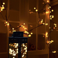 LED String Light Branch Waterproof Outdoor Garden Fence Decoration Festival Holiday String Lights