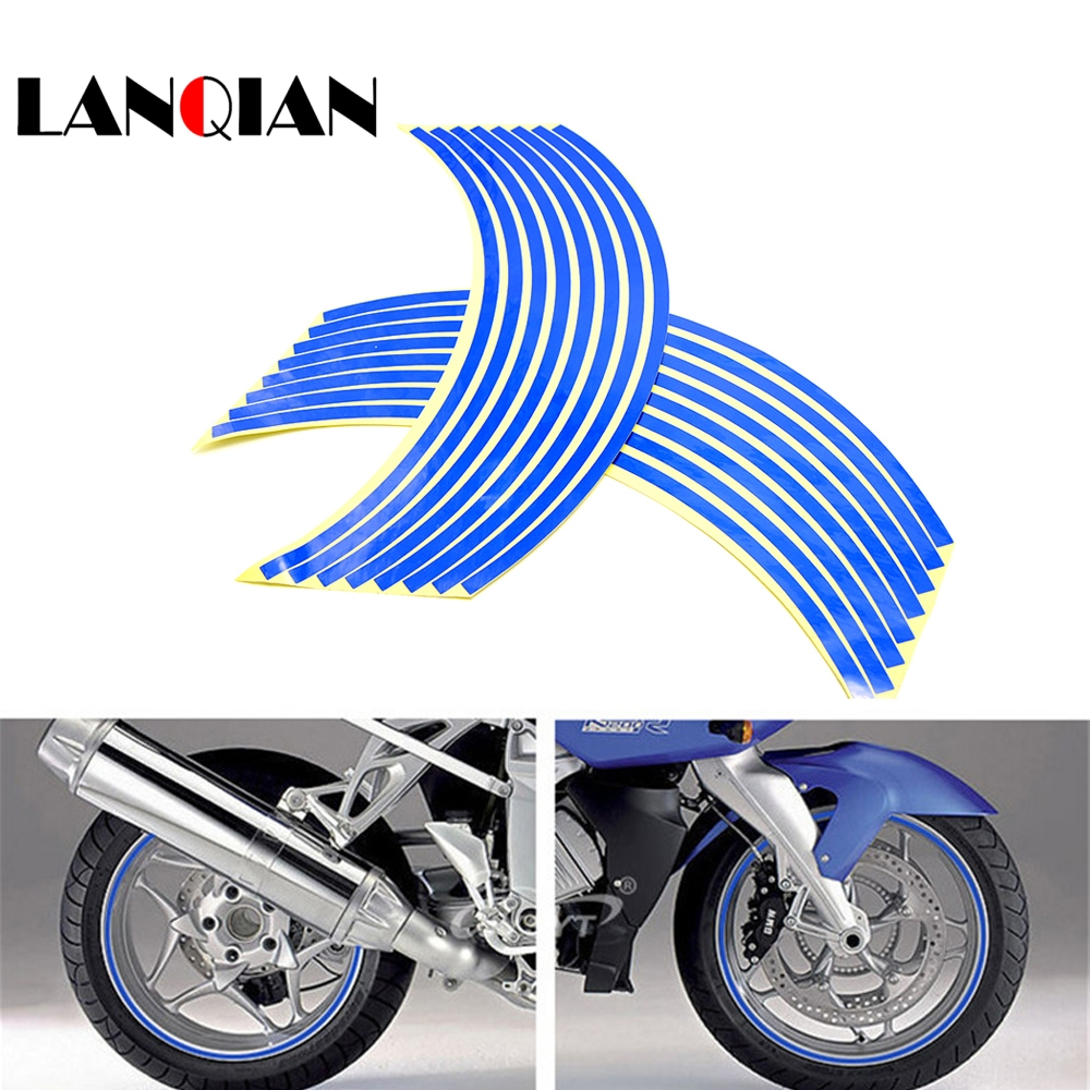 For BMW F R K 650 700 800 1200 1300 GS R RS Adventure  Motorcycle Sticker Colorful Motor Wheel Stickers Reflective Rim Strip
