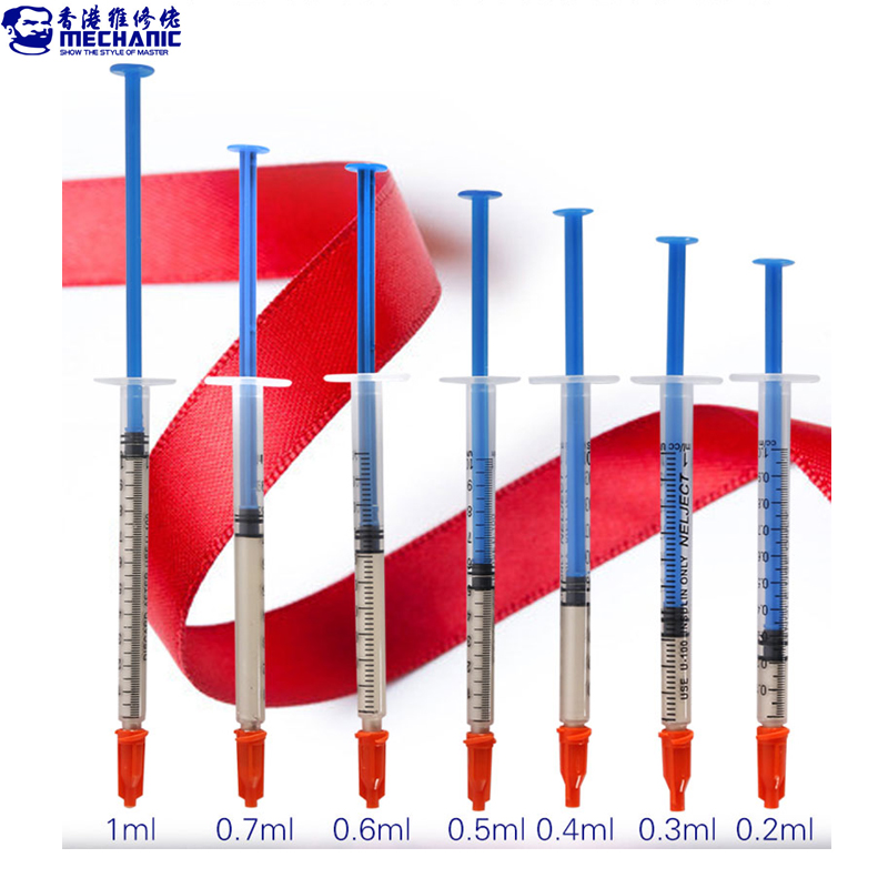 MECHANIC 0.2 0.3 0.4 0.5 0.7 1.0ML 100% Silver Conductive Glue Wire Electrically Paste Adhesive Paint PCB Repair With Needle