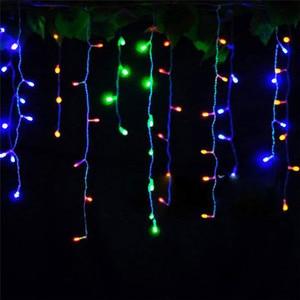 Image 3 - 5 m 96SMD לבן חג פסטיבל וילון חתונה אורות LED מחרוזת רצועת קרח בר מנורת עטור זר מסיבת פיות חג המולד חדש