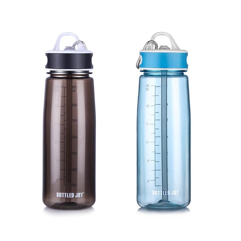 800ml Plastic Sports Straw Water Bottle Leakproof Bottle For Water Gym Tumbler BPA Free Eco-friend Drinker Climbing Drinking Tea