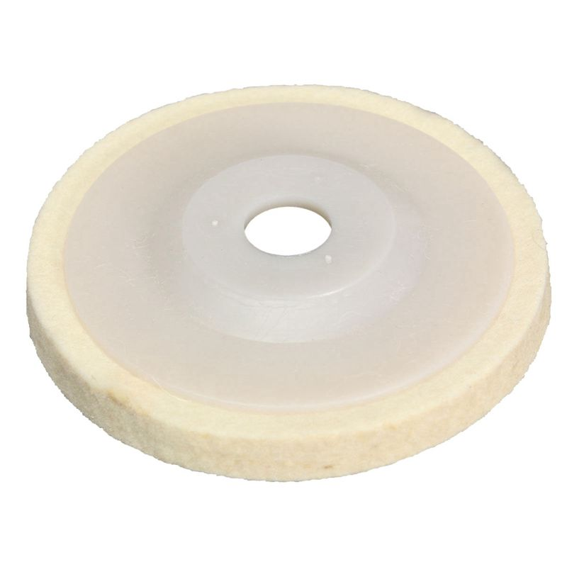 1 pieces 4 inch Round Polishing wheel wool felt polishers pads NEW