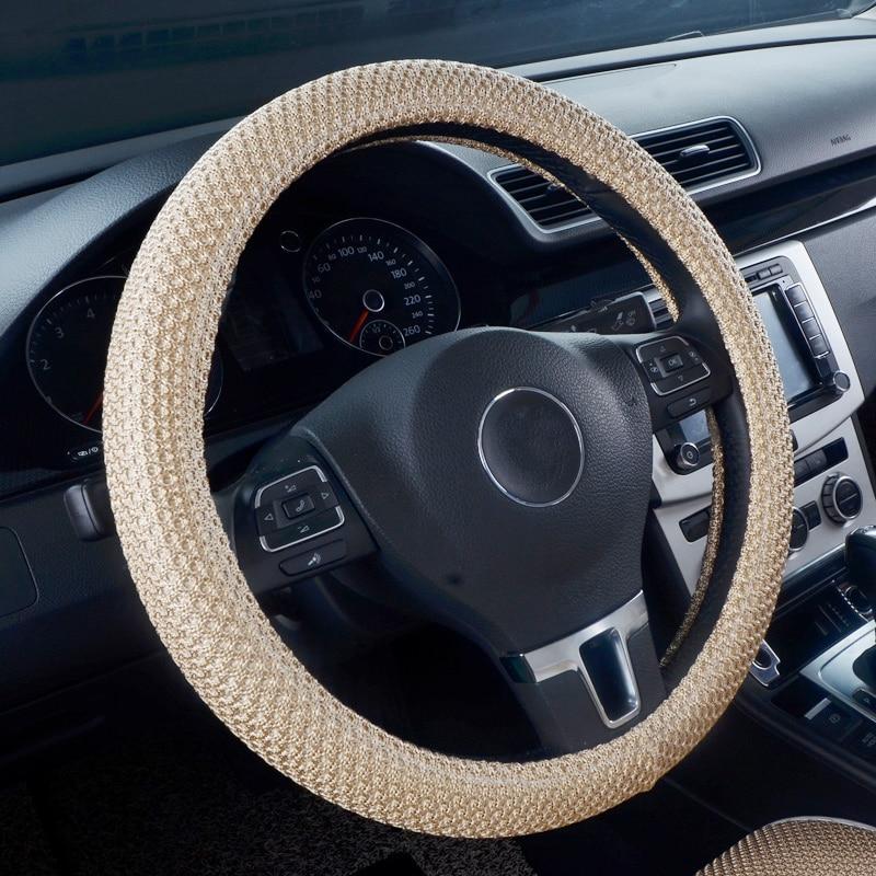 Breathable non-slip fabric car steering wheel cover for Suzuki Jimny Grand Vitara Kizashi Swift SX4 Alto car styling accessories