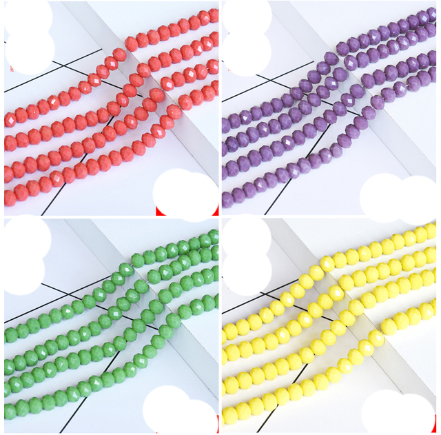 STENYA Tiny 2mm Needlework Crystal Loose Beads Rondelle Faceted Sewing Jewelry Making Findings Bow Knot Headband Accessories