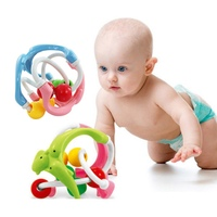 New Baby Rattles Develop Intelligence Grasping Toy Ball Plastic Hand Bell Rattle Little Loud Bell Ball Brinquedos Funny Gift MN8