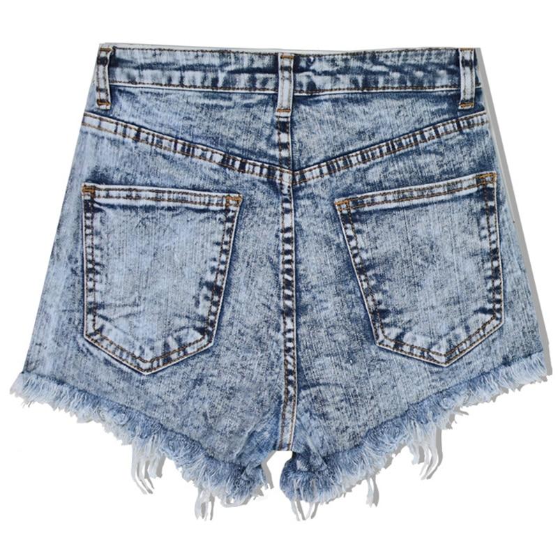 Fashion Women Short Jeans High Waist Stretch Fresh Craft Patch Denim Shorts Fringe Decoration Short Jeans Summer New in Jeans from Women 39 s Clothing