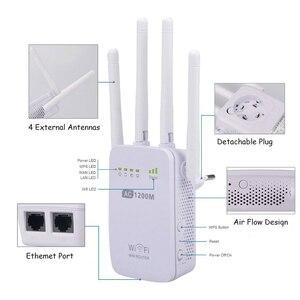 Image 3 - 強力な AC 1200 150mbps のワイヤレス 2.4 グラム/5 グラム無線 Lan リピータ高利得アンテナブリッジ信号アンプ 2 イーサネットポートアクセスポイント