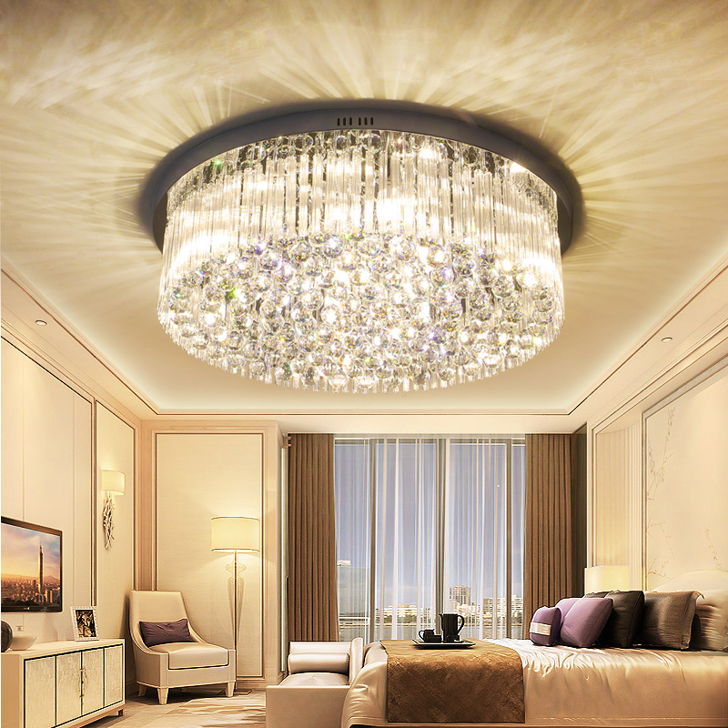 все цены на Living room lights crystal lamps round ceiling lamps modern simple bedroom lights warm hall lights restaurant lights lamps онлайн