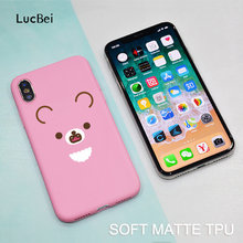 Color Silicon Phone Case For iPhone 7 8 Plus XS Max XR Cartoon Rilakkuma  Cases For iPhone X 8 7 6 6S Plus Soft TPU Cover