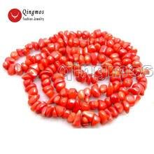 """Qingmos 32 """"ожерелье из натурального коралла для женщин"""