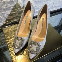 Europe and the United States wind pointed diamond sequined high heel women shoes with shallow mouth single shoes