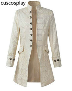 Coat Edwardian Costume Dress Steampunk Prince Play Adult Frock Men Victoria Outwear Trench