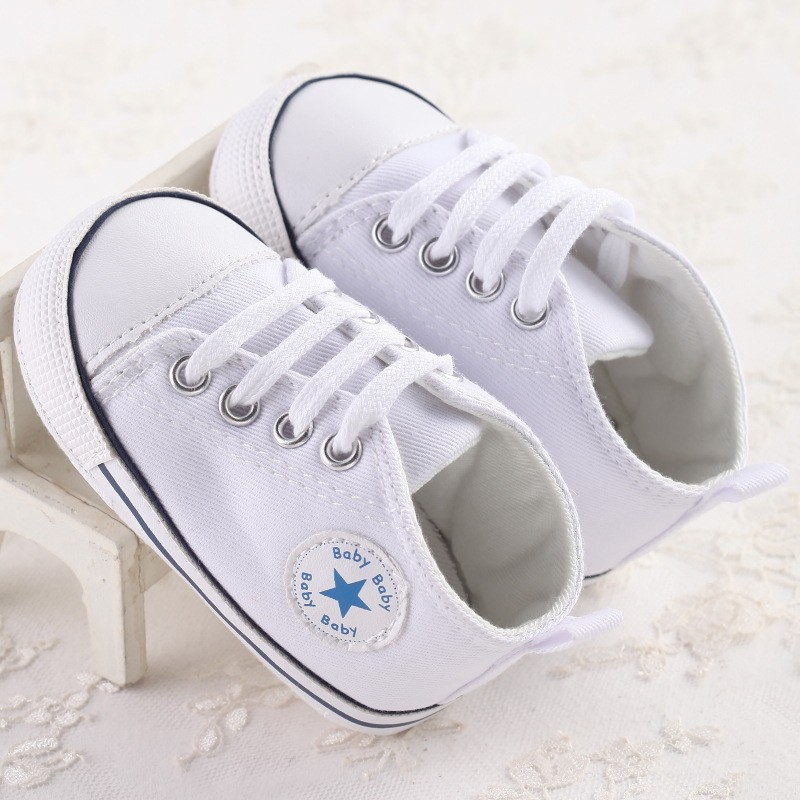 2017 New Canvas Sports Sneakers Newborn Baby Boys Girls First Walkers Shoes Infant Toddler Soft Bottom Anti-slip Prewalker Shoes