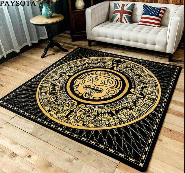 Paysota Maya Culture Carpet Salon Canapé Chambre Tapis Porte Tapis