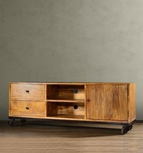 American country to do the old retro antique elm wood lockers TV cabinet with roller c TV wall cabinet