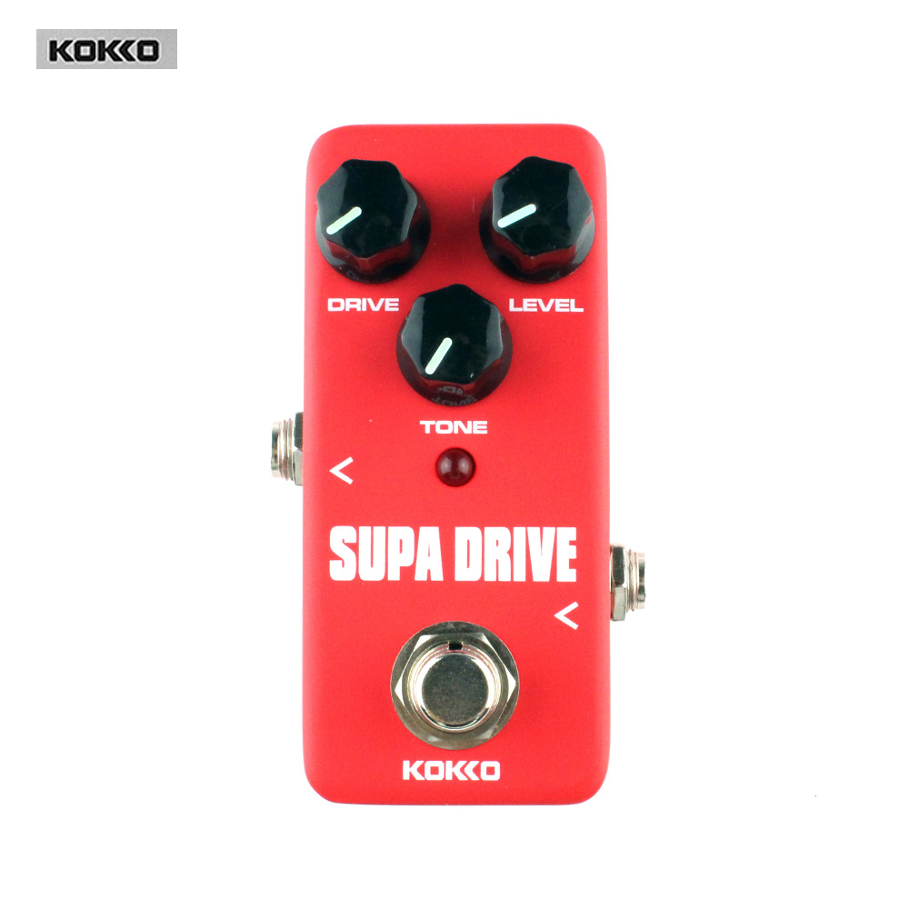 Kokko FOD5 Mini Supa Drive Guitar Effect Pedal/Overdrive Booster High-Power Tube Overload Guitar Effect Pedal/Guitar Accessories kokko fbs2 mini guitar effect pedal guitarra booster high power tube electric guitar two segment eq effect device parts