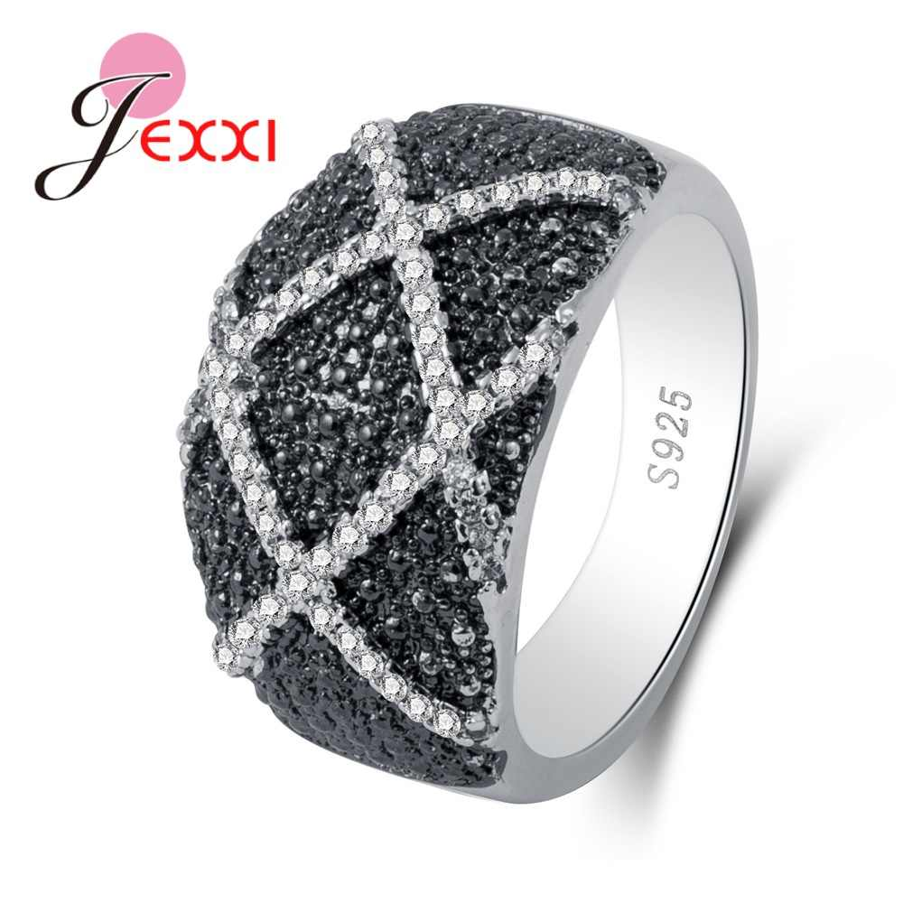 Unique Pattern Rings For Lively Party Occasion Gifts  100%  Silver Rhinestone Women Men Favorites Chioces Crazy