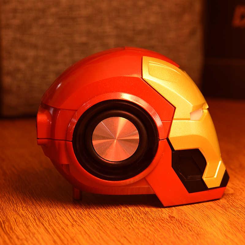 New Iron Man Wireless BT Speaker Ironman Loud Speaker Kids Gift LED Flashing Light Boombox Column Bluetooth Con Radio Bocina