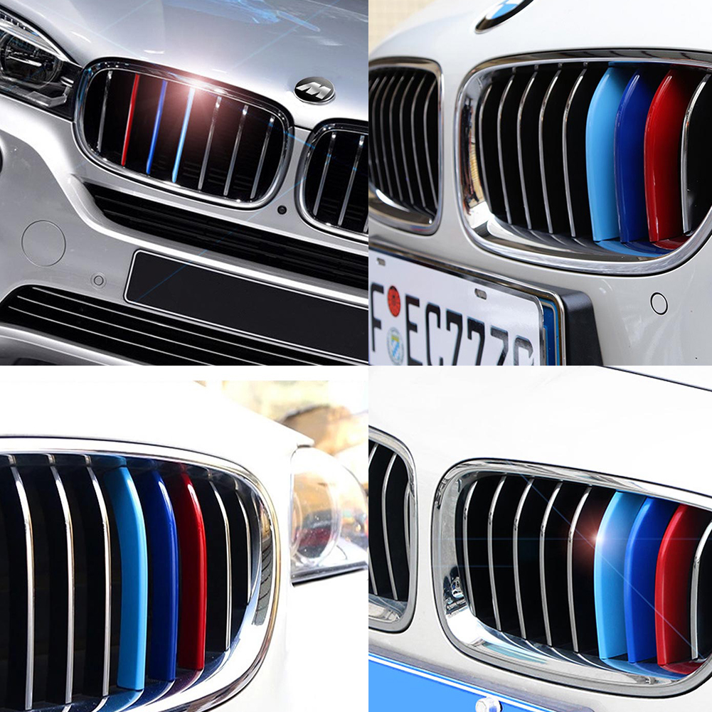 M-Colored Grille Insert Trims For 2014-2017 BMW F30 F31 320i 328d 328i 335i