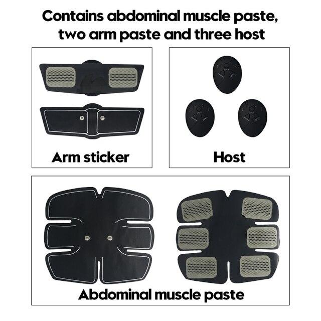 EMS trainer Muscle Stimulator Trainer Smart Fitness Abdominal Training Stimulator Body Slimming Belt Unisex Posture Corrector 3