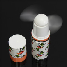 Portable Mini Fan Handheld Cooling Small Battery Power Operated Cooler Compact Cute Lipstick Shape Summer