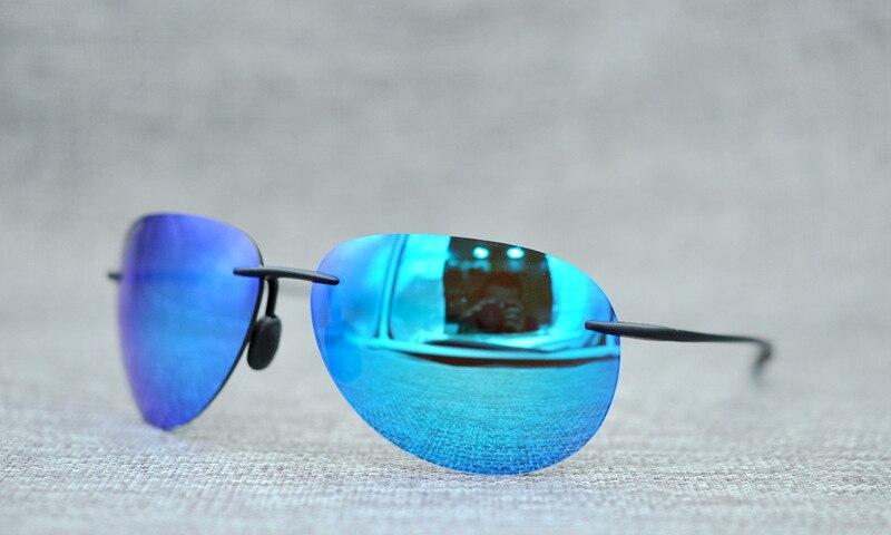2018 New Fashion Frameless Acetate titanium Pilot Style Sunglasses men and women Punk Polarized Sunglasses new men and women polarized sunglasses fashion toad
