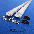 Free shipping aluminum profile for led strip,milky/transparent cover for 12mm 5630 pcb with fittings LED rigid bar CC-18X5.5
