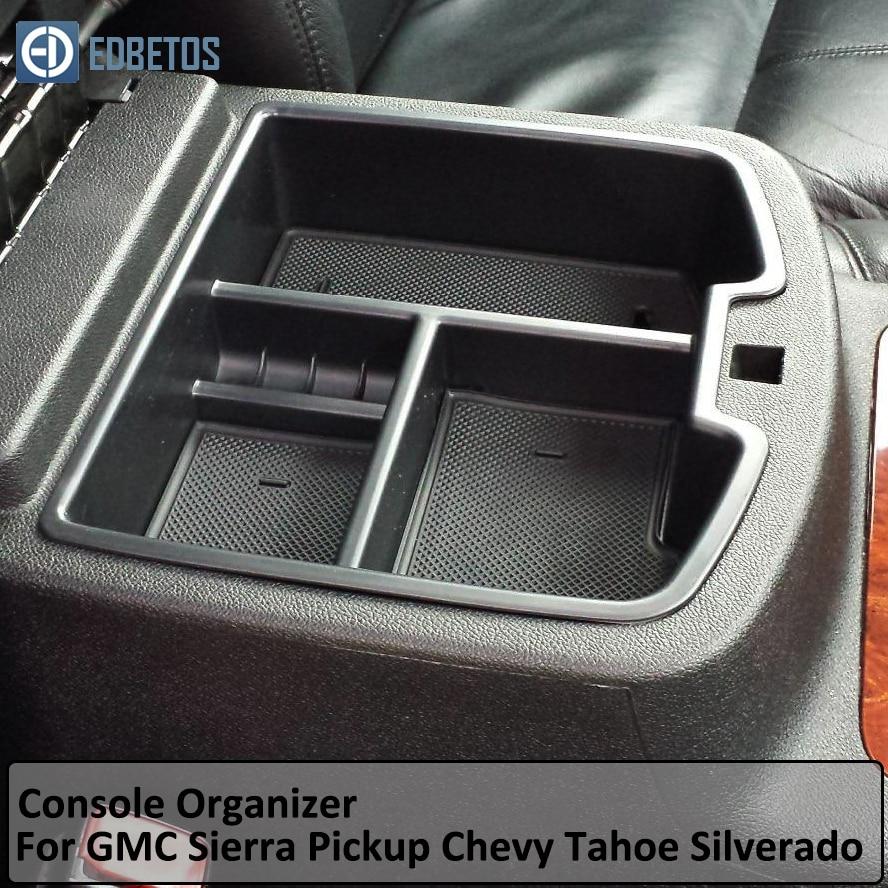 Center Console Organizador para Chevrolet Chevy Avalanche Tahoe Silverado Suburban 1500 2500 GMC Yukon Denali Sierra Pickup Truck