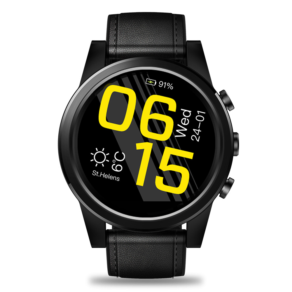 USB Rechargeable 1 + 16 GB caméra à distance cadeau musique jouant Quad Core horloge mode montre intelligente bracelet en cuir pour Zeblaze Business