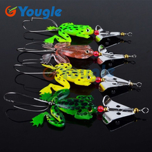 YOUGLE 4 Pieces/Lot  Rubber Frog Lure Soft Fishing Lures Bass CrankBait Crank Bait Sinking 9cm 3.54″ 6.2g