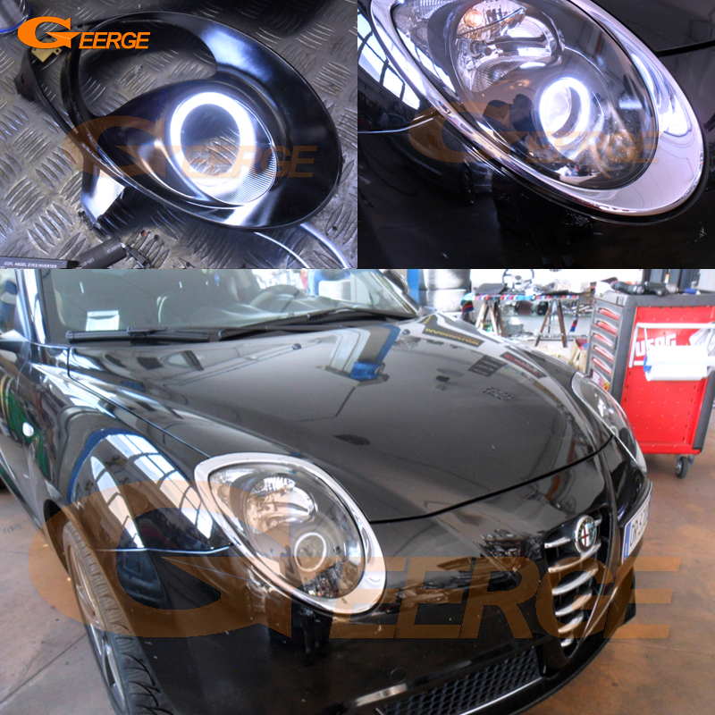 For Alfa Romeo Mito 2008 2009 2010 2012 2013 2014 2015 Excellent angel eyes Ultra bright illumination COB led angel eyes kit for lifan 620 solano 2008 2009 2010 2012 2013 2014 excellent angel eyes multi color ultra bright rgb led angel eyes kit