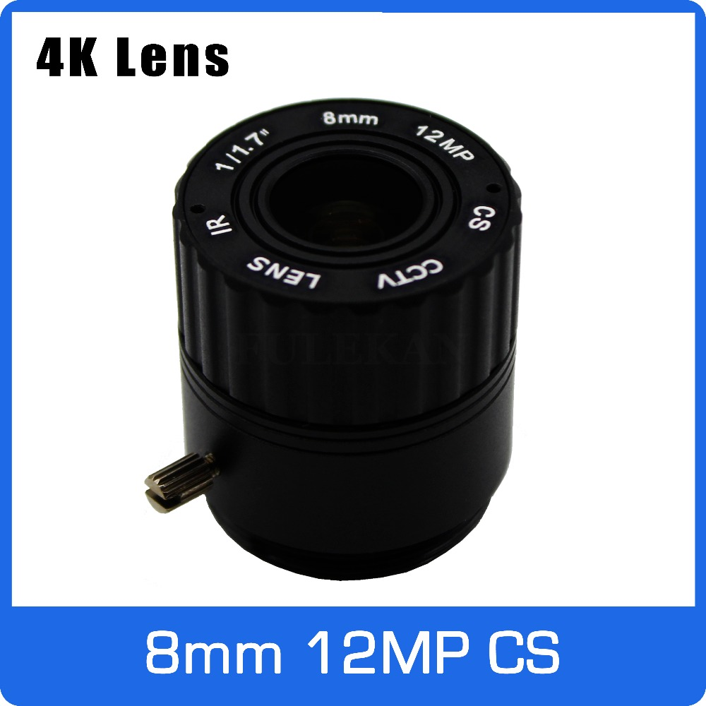 4K Lens 12Megapixel Fixed CS Lens 8mm 70 Degree View 25m distance 1/1.7 inch For <font><b>IMX226</b></font> 4K IP CCTV Box Camera Free Shipping image