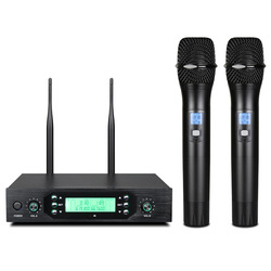 J5 Professional UHF Infrared Adjustable Wireless Microphone With LED Display Speaker Handheld Karaoke Microphone launchpad