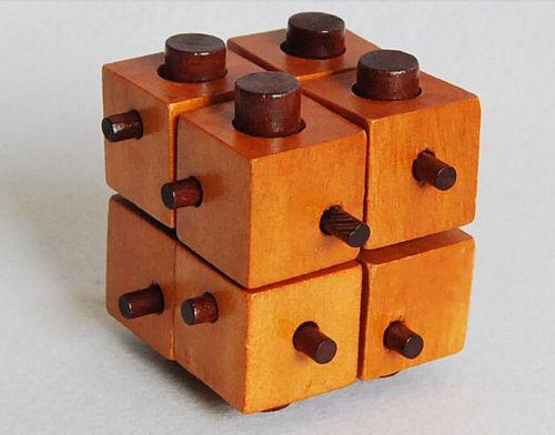 Candice guo Wooden toy Intelligence montessori game separate block sticks Kong Ming Lock kid birthday gift christmas present 1pc
