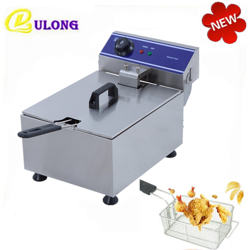 Multifunctional Mini Home Use Commercial Deep Fryer Electric Oil Fat Frying Machine Grill Fried 220v multifunction intelligent electric deep fryer french fries machine oil free and smokeless with timer function for home use